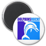 Dolphins Rock! #4 6 Cm Round Magnet