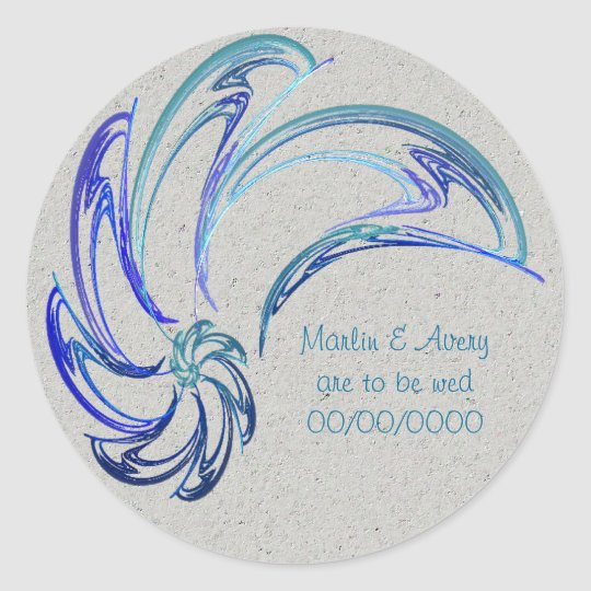 Dolphins Save the Date Classic Round Sticker