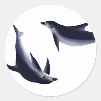 Dolphins Round Sticker