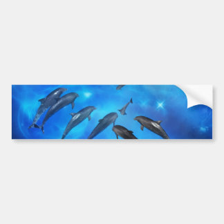 Dolphins swimming in the ocean bumper sticker
