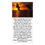 Dolphins Symphony at Sunset Customized Photo Card