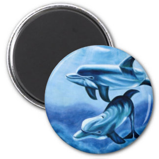 Dolphins Tropical Fish Magnet