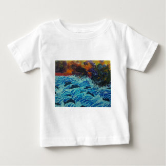 Dolphins under storm clouds baby T-Shirt