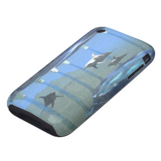 Dolphins Under Water iPhone 3G 3GS Tough Case
