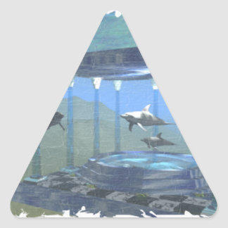 Dolphins Under Water Sticker