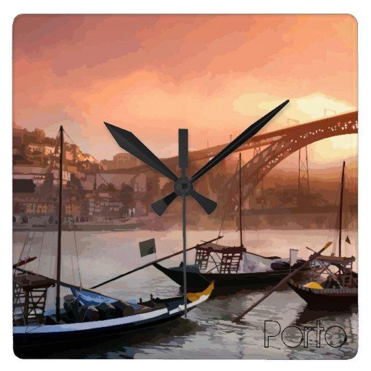 Dom Luís I Bridge - Porto Illustration Wallclock