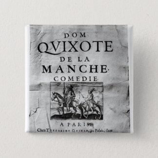 Dom Quixote de La Manche Comedie' 15 Cm Square Badge