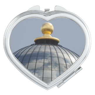 Dome & Clouds Heart Compact Mirror