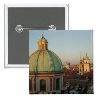 Dome of Church of Saint Francis, Prague, Czech 15 Cm Square Badge