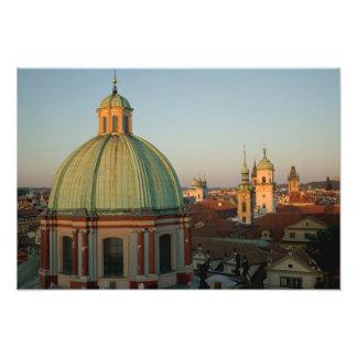 Dome of Church of Saint Francis, Prague, Czech Photo Print