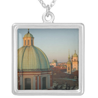 Dome of Church of Saint Francis, Prague, Czech Silver Plated Necklace
