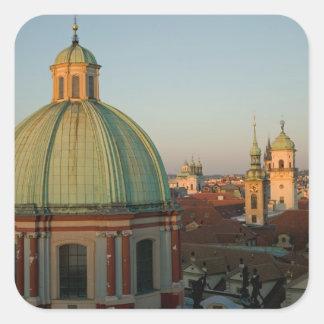 Dome of Church of Saint Francis, Prague, Czech Square Sticker