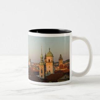 Dome of Church of Saint Francis, Prague, Czech Two-Tone Coffee Mug