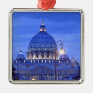 Dome of Saint Peter's Basilica at dusk Christmas Ornament
