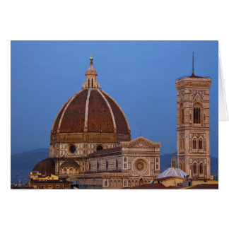 Dome of Santa Maria del Fiore Cathedral in warm Card
