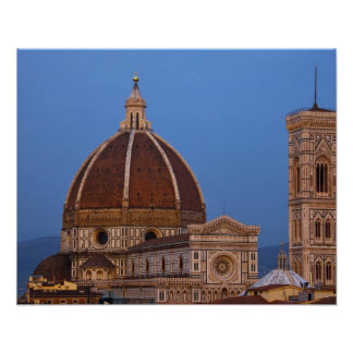 Dome of Santa Maria del Fiore Cathedral in warm Poster