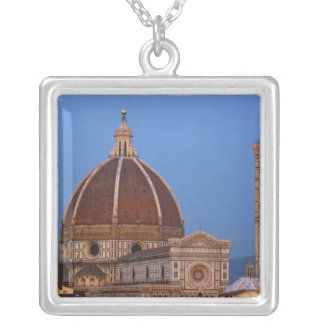 Dome of Santa Maria del Fiore Cathedral in warm Silver Plated Necklace