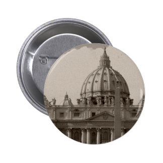 Dome of St Peters Basilica Rome 6 Cm Round Badge