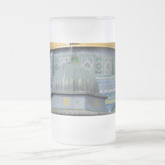 Dome of the Chain Temple Old City of Jerusalem Frosted Glass Mug