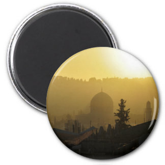 Dome of the Rock 6 Cm Round Magnet