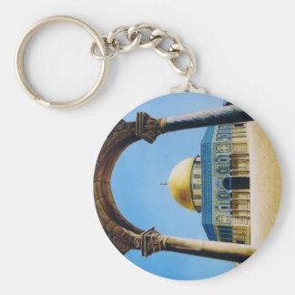 dome-of-the-rock basic round button key ring