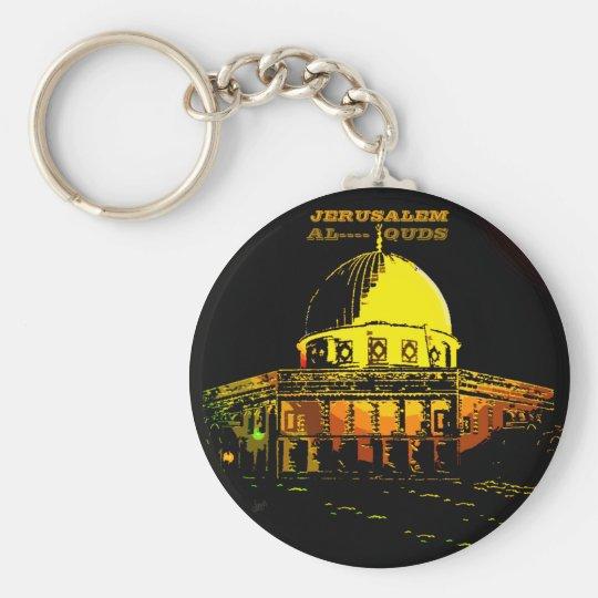 Dome of the Rock, Jerusalem Basic Round Button Key Ring