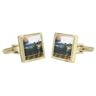 Dome of the Rock, Jerusalem Gold Finish Cuff Links