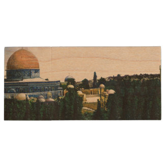 Dome of the Rock, Jerusalem Wood USB 2.0 Flash Drive