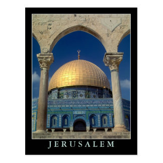 """Dome of the rock, Jerusalem"" postcard"