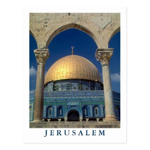 """""""Dome of the rock, Jerusalem"""" postcard"""