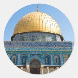 Dome of the Rock Jerusalem Round Sticker
