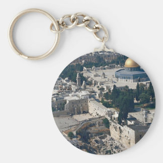 Dome of the Rock, old city Jerusalem, Israel Basic Round Button Key Ring