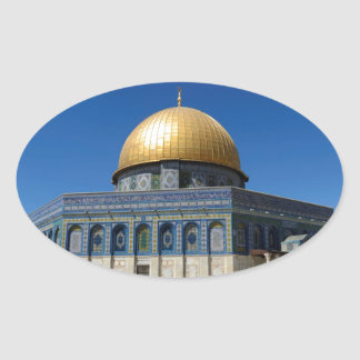 Dome of the Rock Oval Sticker
