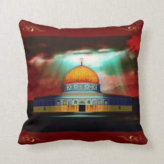 Dome of the Rock Pillow 1 قبة الصخرة‎ Throw Cushion