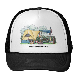 Dome Tent Camper Camping Hats Hat