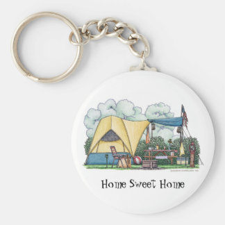 Dome Tent Camper Camping Key Chains HSH Keychain