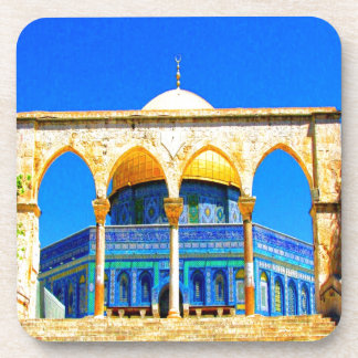 dome the rock 14 god and peace beverage coasters