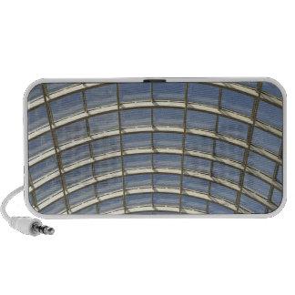 Domed glass roof travel speaker