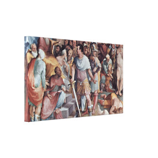 Domenico Beccafumi - Murder of the wrong Melius Canvas Prints
