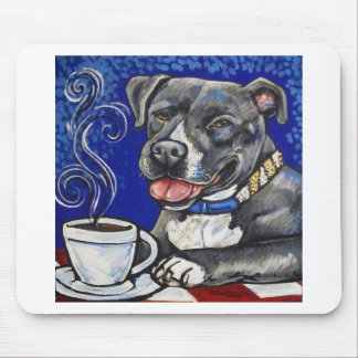 Domenico drinking coffee mouse mat