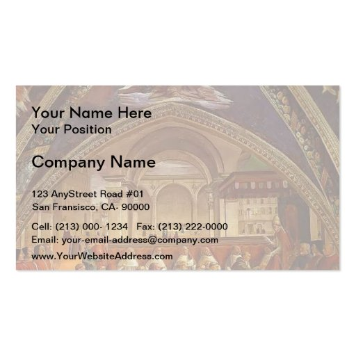 Domenico Ghirlandaio: Confirmation of the Rule Business Cards