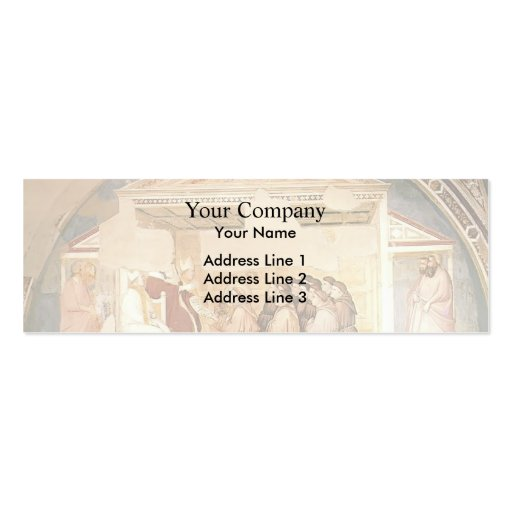 Domenico Ghirlandaio- Confirmation of the Rule Business Card Template