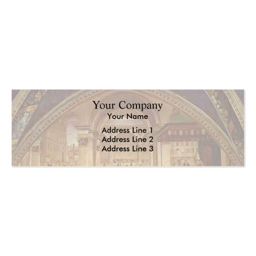 Domenico Ghirlandaio: Confirmation of the Rule Business Card Template