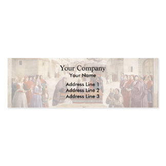 Domenico Ghirlandaio: The Miracle of a Child Business Card Templates