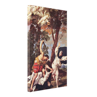 Domenico Zampieri - Murder of St Peter Martyr Stretched Canvas Prints