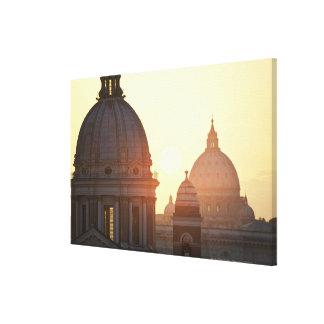 Domes of San Carlo al Corso Church and St. 2 Canvas Print