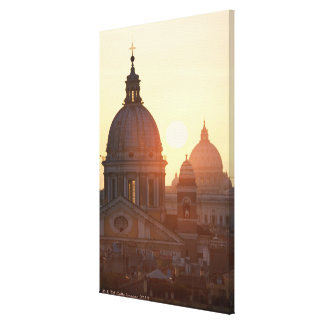 Domes of San Carlo al Corso Church and St. Stretched Canvas Prints