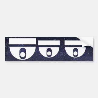 Domes Pictogram Bumper Sticker