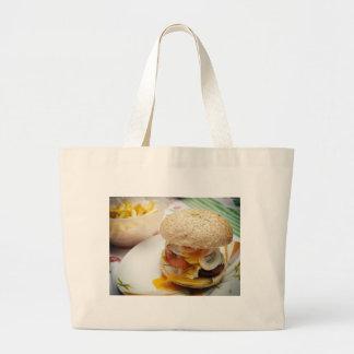 Domestic burger large tote bag