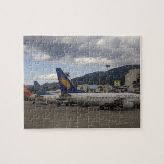 Domestic Chinese jet airliners lined up at Jigsaw Puzzle